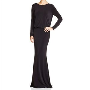 Rachel Zoe Sequined Inset Draped Back Gown Size 8